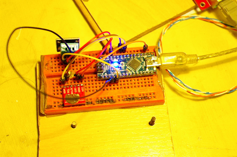 Arduino nano, DHT11 temperature and humidity sensor,BMP085 temperature and pressure sensor.